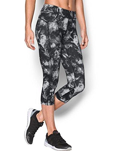"Under Armour Women's UA HeatGear Armour Printed 18"" Capri Small Black"