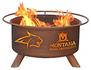 Montana State University Portable Steel Fire Pit Grill by Patina