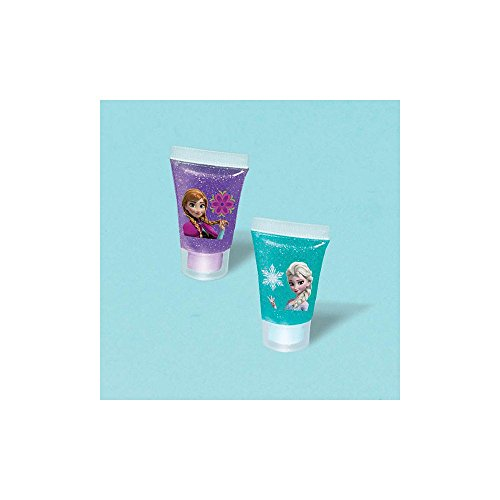 "Amscan Disney Frozen Body Glitter Tube Party Favor Set, Purple/Teal/Violet, 2"" x 5/8"""