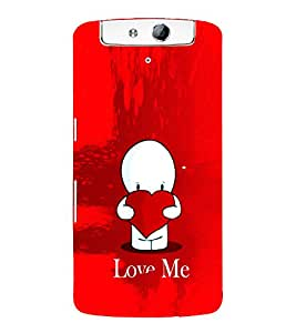 EPICCASE Love Me Mobile Back Case Cover For OPPO N1 (Designer Case)