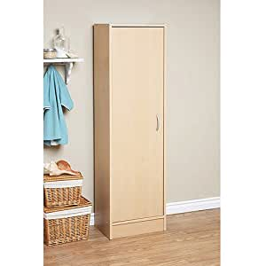 Single door pantry maple this storage for Kitchen cabinets amazon
