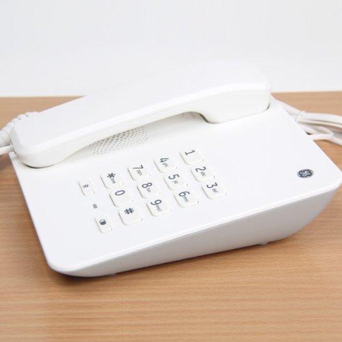 (ジーイー)GE デザイン 電話機 シンプル 人気 電話 Phone GE-EX30043 ホワイト