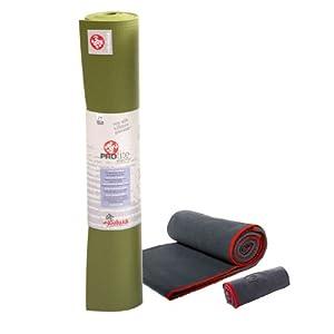 Manduka Hot Yoga Package (Olive/Thunder)