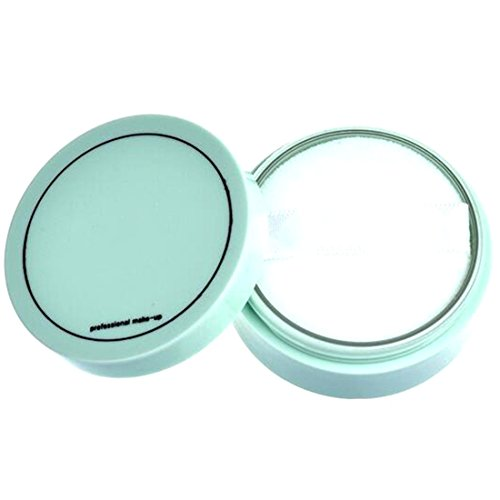 Pressed Powder with Puff Smooth Face Makeup Foundation Waterproof Loose Powder 800#White (White Face Makeup Powder)