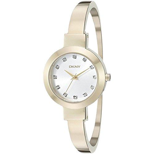 DKNY  NY2410 - Reloj de cuarzo con correa de acero inoxidable para mujer, color dorado