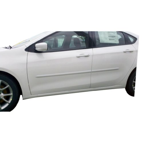 Dodge Dart Body Side Moldings Painted in the Factory Paint Code of Your Choice PW7