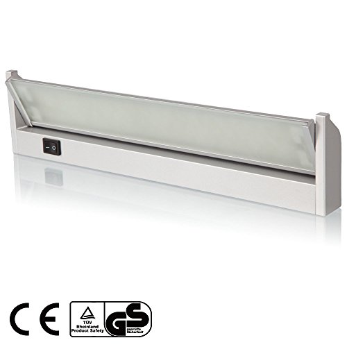 110V 4W Multi-function LED Under Cabinet Lighting Fixture – Angle Adjustable LED Mirror Light – Warm White 60 LEDs – Toughened Glass Aluminum Housing 120° Beam Angle for Cabinet, Bathroom, Accent Lighting