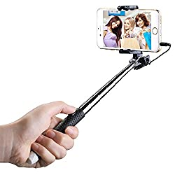 Mpow Selfie Stick, Mini Portable Foldable Extendable Monopod with 3.5mm Wire Connecting for iPhone 6s Plus 6 5s Samsung Galaxy S6 S5, etc.