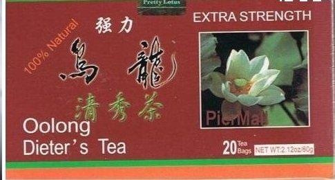 Pretty Lotus Extra Strength Oolong (Wu Long) Dieter's Tea - 20 Tea Bags (2.12 Oz)