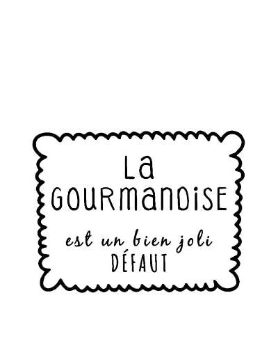 ZZ-Ambiance-sticker Vinilo Decorativo Kitchen La Gourmandise Est Un Bien Joli Défaut