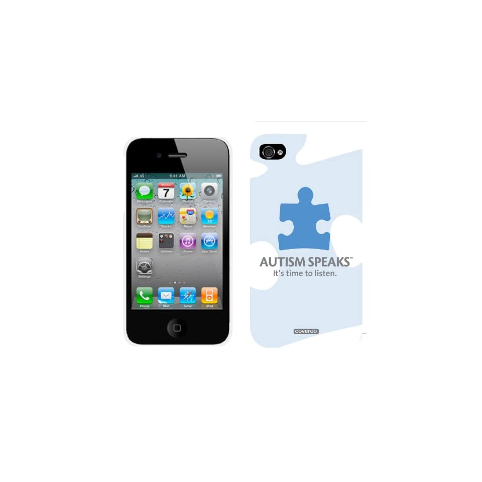 Autism Speaks Puzzle Piece design on iPhone 4 / 4S Thinshield Snap On Case by Coveroo