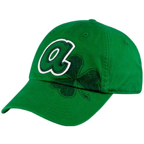 ad7355b8964 Nike Atlanta Braves Kelly Green St. Patrick s Day Campus Adjustable Hat