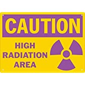 Caution High Radiation Area Safety Sign-10X14 -1-Laminated Paper Sign by Compliance Assistance [並行輸入品]