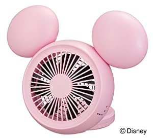 (AC, USB, battery) 10cm compact desk fan with aroma hand mirror with pink NPM-1084U Disney (Disney) Mickey type 3 power (PK) (japan import)