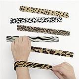 Animal Print Slap Bracelets - Assorted 12 pack
