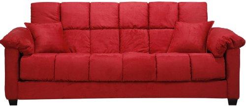 Madrid Convertible Sofabed Crimson Microfiber