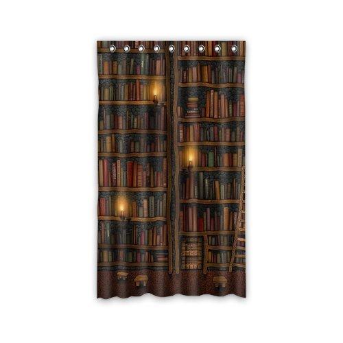 "Custom Old Library Books Bookshelf Window Curtains/drape/panels/treatment Polyester Fabric Bedroom 50""x84"""