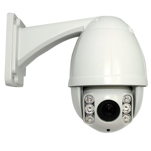 10 Times Zoom IR High Speed CCTV Outdoor/Indoor Dome Security PTZ Camera - 1/3