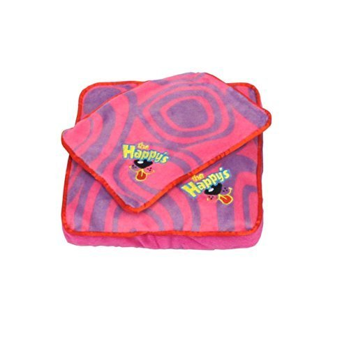 1 X Happys Lazy Bones Bed and Blanket - Pink