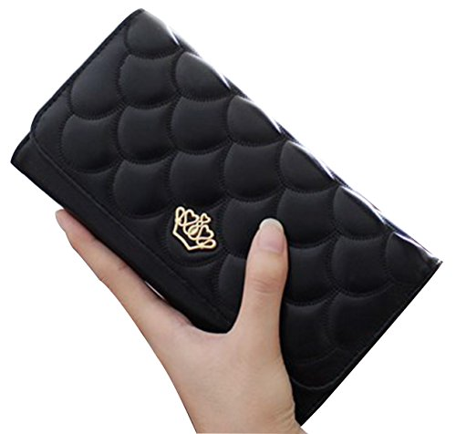 tina-womens-fashion-embossing-crown-long-patent-leather-wallet-purse-black