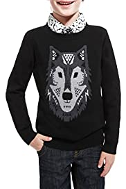 Autograph Crew Neck Wolf Jumper with Cashmere [T88-1900X-Z]