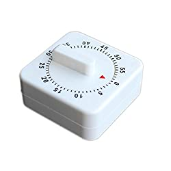 60 Minutes kitchen Timer - White - Alarm / Timer for Cooking