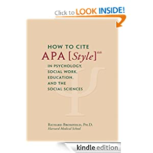 how to cite work in apa format