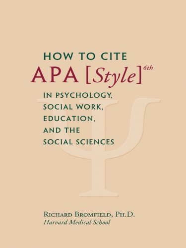 APA Publication Manual 6th edition