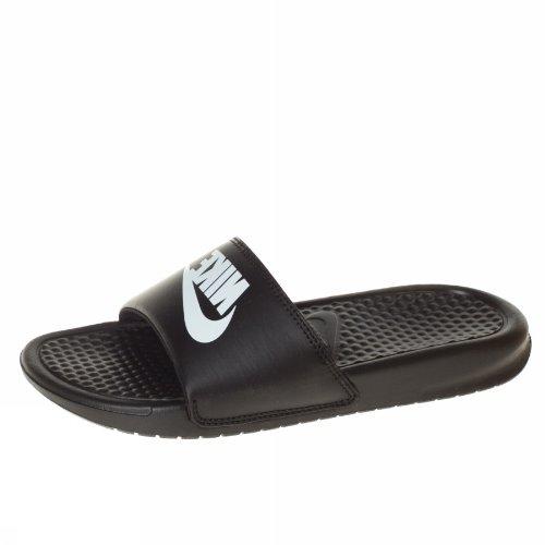 newest ce901 43c2e chaussures nike benassi just do it print blanche vue exterieure
