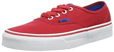 Vans Unisex-Adult U Authentic Low-Top Trainers, Red Chinese, 2.5 UK