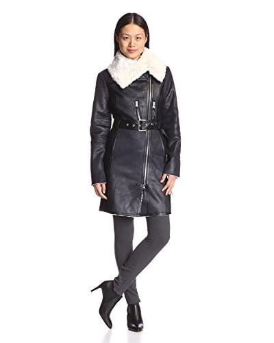Vince Camuto Women's Faux Fur Trim Hooded Coat
