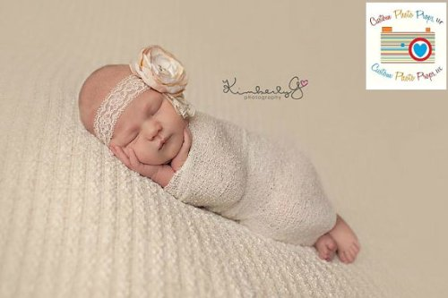 Popcorn Ivory Newborn Photo Prop Stretch Wrap (SwaDDLinG and HAnGinG VideOs) Newborn Photography Prop, Baby Props, Baby Boy Props, Unisex
