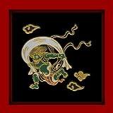 【歌舞伎シリーズ】 金蒔絵シール◇風神◆デコ電シール