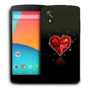 Snoogg Diamond Heart Printed Protective Phone Back Case Cover For LG Google Nexus 5