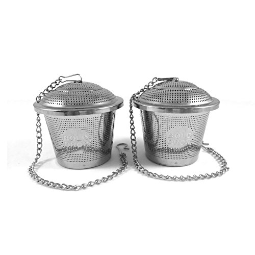 "Lowest Price! BoldDrop Stainless Steel Loose Leaf Tea Fine Mesh Infuser with Extended 7"" Chain ..."