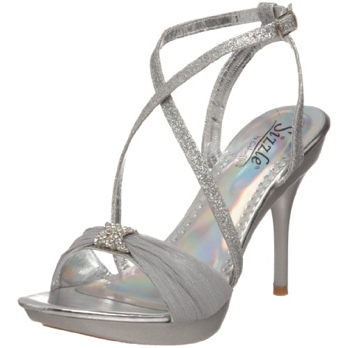 Sizzle by Coloriffics Women's Antilles Platform Sandal,Silver,7 M US