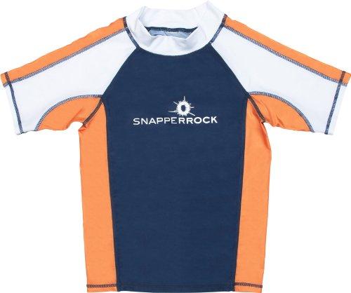 Boys Short Sleeve Rash / Swim Top - UPF 50 by  - Orange Blue