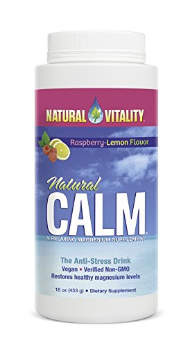 Natural Vitality Natural Calm Magnesium Anti Stress, Organic, Raspberry Lemon, 16 oz