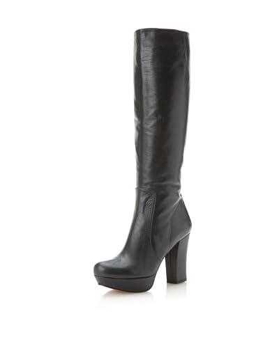 Pura López Women's Mid Heel Boot  - Dark Green