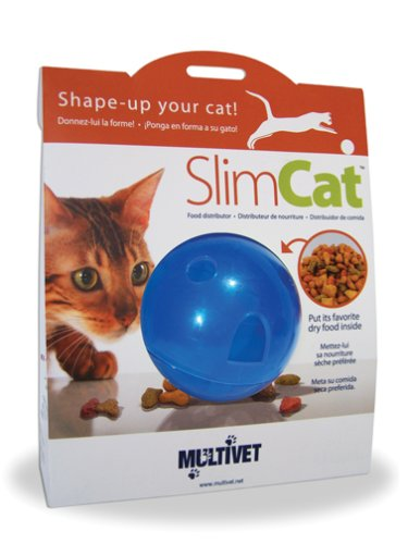 MultiVet SlimCat Food Distributor Ball, Blue