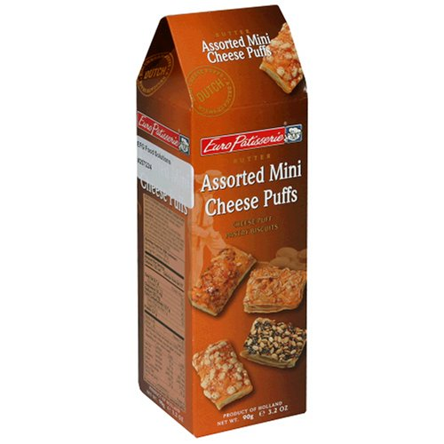 Buy Euro Patisserie Assorted Mini Cheese Puffs, 3.2-Ounce Package (Pack of 10) (Euro Patisserie, Health & Personal Care, Products, Food & Snacks, Snacks Cookies & Candy, Snack Food)