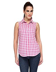 Kiosha Pink Checkered Shirt