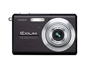 Casio Exilim EX-Z75 7.2MP Digital Camera with 3x Anti Shake Optical Zoom (Black)