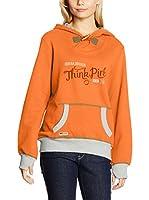 THINK PINK Sudadera con Capucha (Naranja)