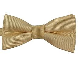 SYAYA Male Men\'s boy Classic Pre-Tied Formal Tuxedo Bowtie Polka Dot Jacquard Wedding Party Necktie Ties Adjustable Mens boys bow Tie MLJ23 (fleshcolor)