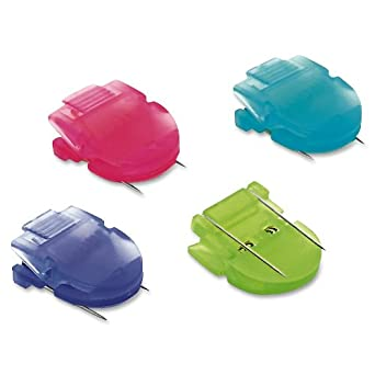 ADVANTUS Panel Wall Clip for Fabric Panels, Standard Size, 40-Sheet Capacity, Pack of 20, Assorted Cool Colors (75307)