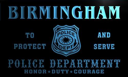 Tk2147-B Birmingham Police Dept Department Badge Policemen Bar Beer Neon Light Sign