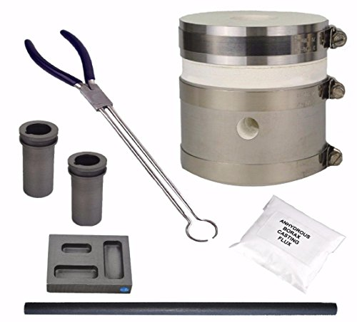 Mini Propane GPK Kwik Kiln Furnace Kit Smelting Gold Silver Copper Metal Scrap with Mold and Flux (Copper Furnace compare prices)
