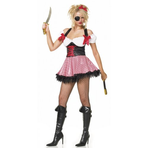 Pirate Wench Costume - Small - Dress Size 4-6