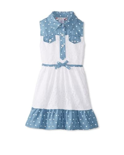 Speechless Girl's 2-6X Chambray Detail A-line Dress  [Chambray]